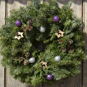 christmas wreath twinkle