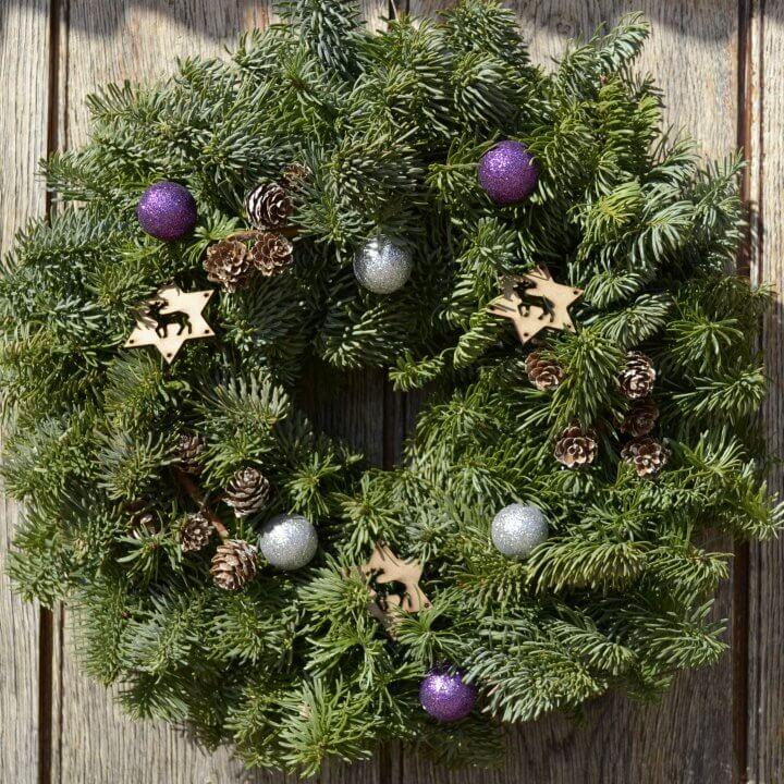 Twinkle Christmas Wreath Fresh Wreaths From