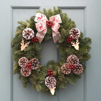 Deer in the Woods Christmas Wreath
