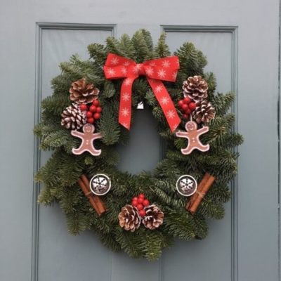 Gingerbread Man Christmas Wreath