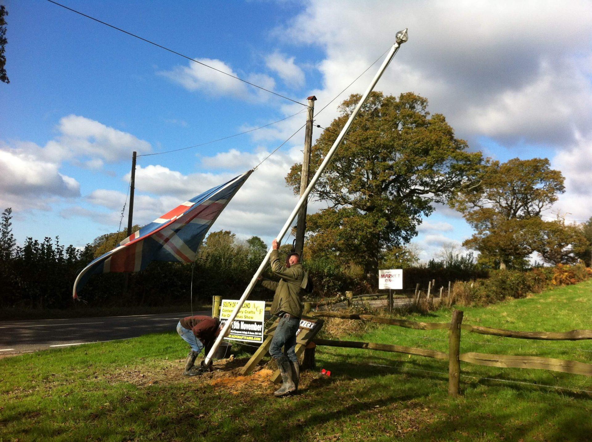 Flagpole Fun at the SendMe Plantation