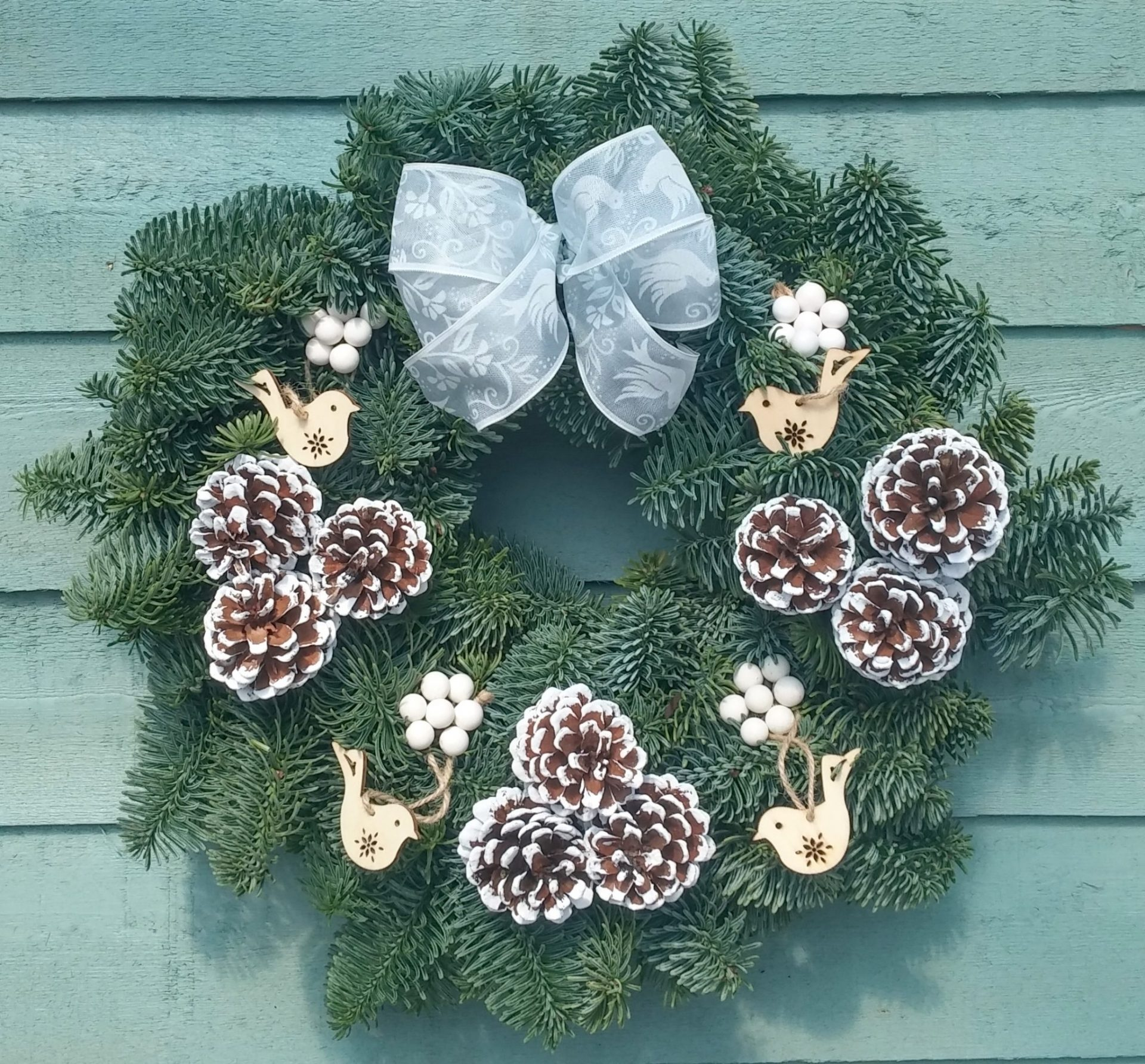 Nordic Christmas Wreath - Fresh Wreaths from Send Me a Christmas Tree