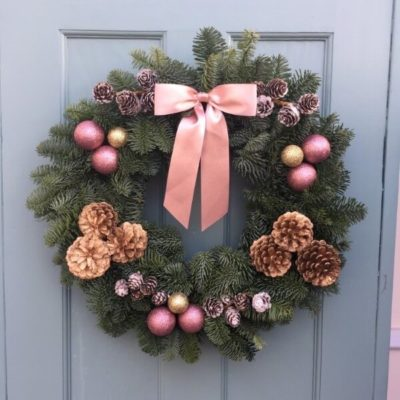 Santa Baby Christmas Wreath