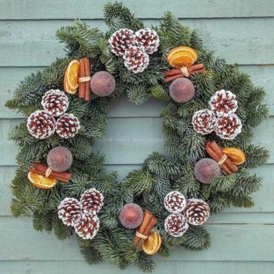 Large Spicy Chocolate Orange Wreath