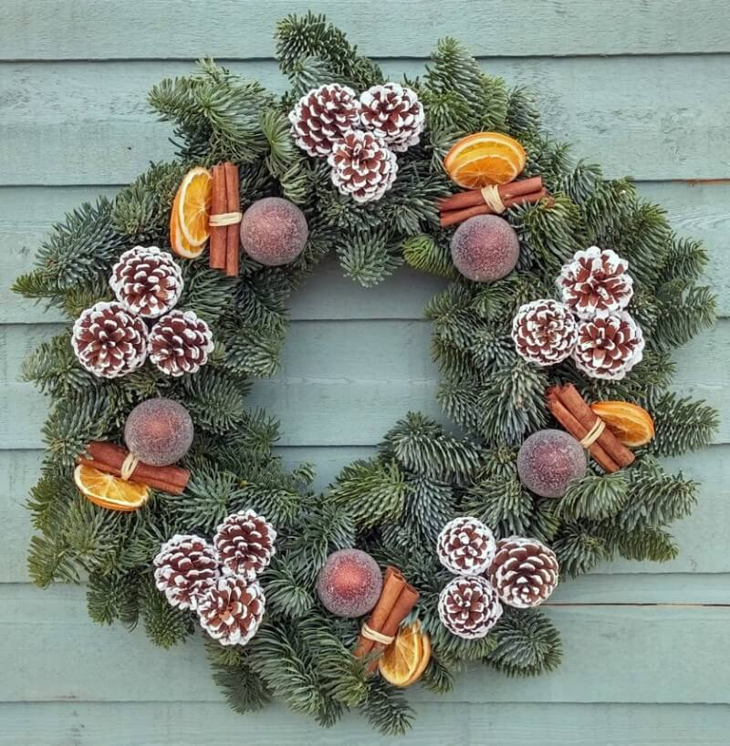 Large Spicy Chocolate Orange Wreath