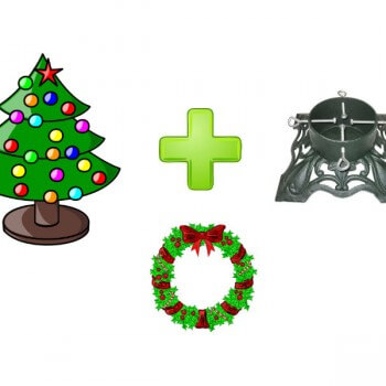 Christmas Tree, Wreath & Stand Deal