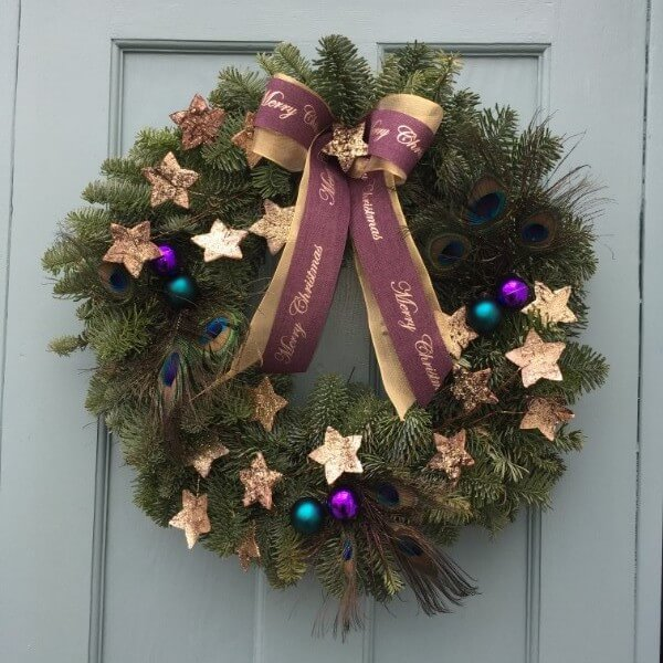 We Three Kings Christmas Wreath