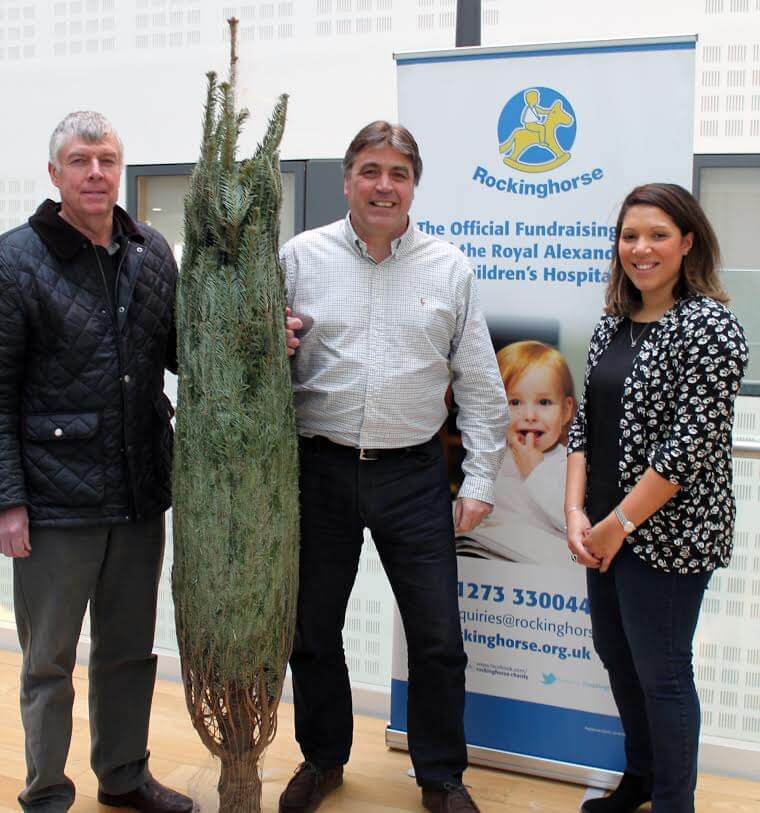 Bringing the Magic of Real Trees to Children's Hospitals around Sussex
