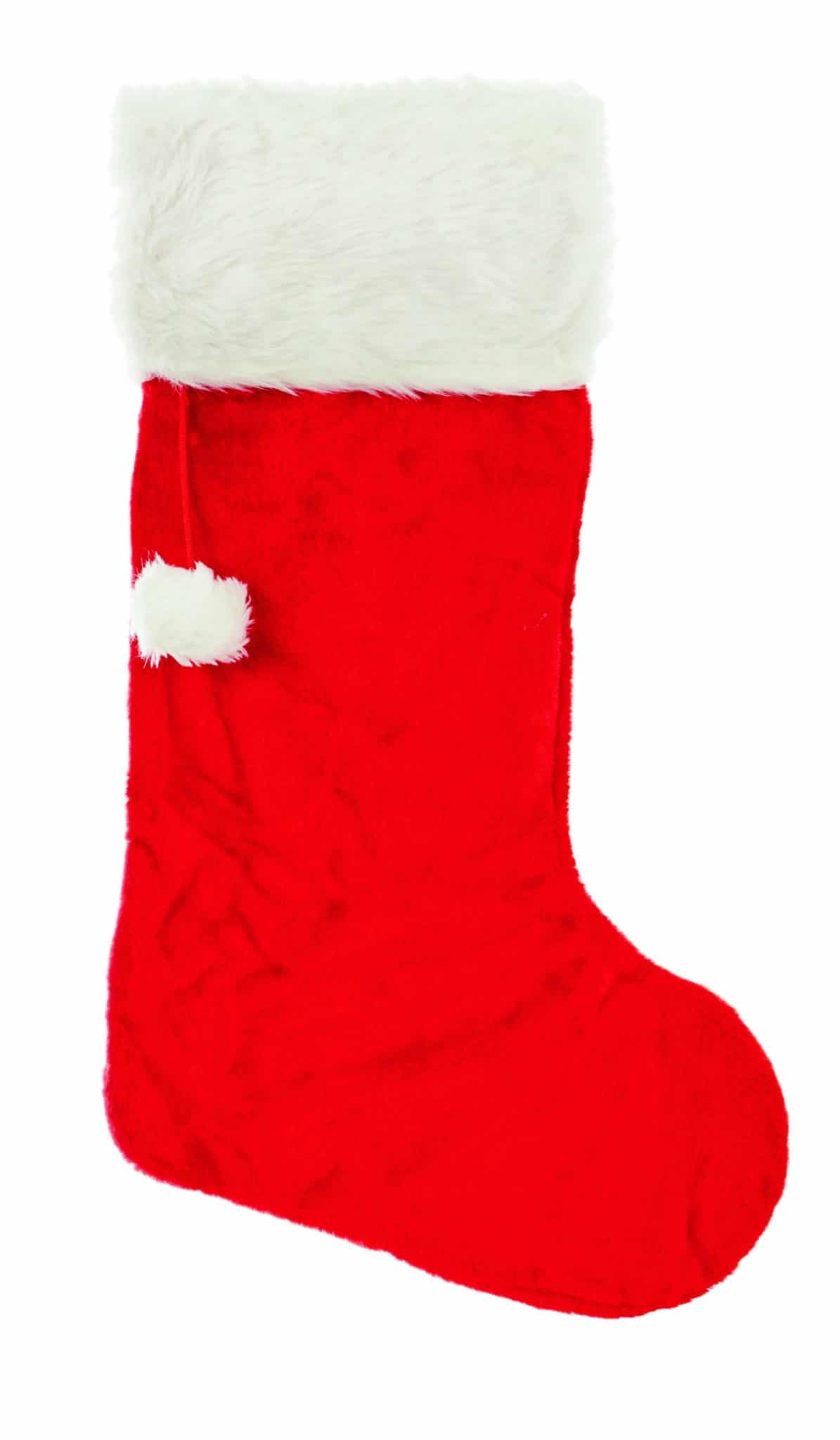Red Christmas Stocking.Classic Red Christmas Stocking