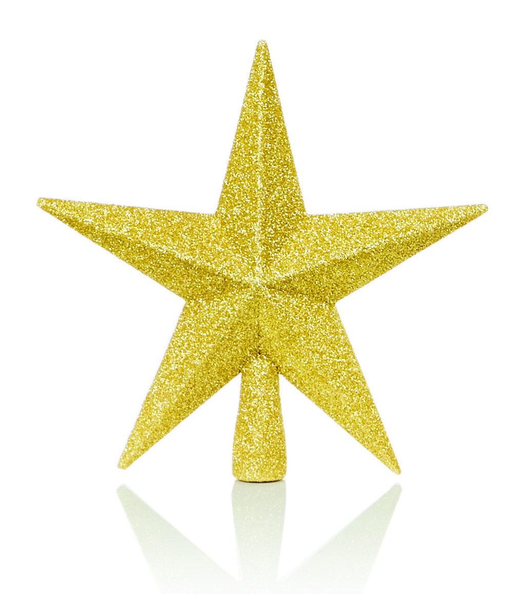 Christmas Tree Star.20cm Gold Star Tree Topper Send Me A Christmas Tree